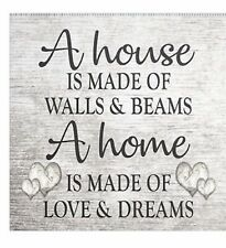 Diamond Painting Kit A house is made of walls & beams A home is made of love.