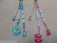 Pram / Changing Bag Charm Baby Personalised Name & DOB