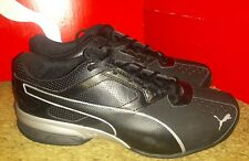 Puma Tazon 6 Running Shoes Mens Sz 10 W WIDE Black Silver athletic  * NEW