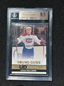 Brendan Gallagher Rookie 2013-14 Upper Deck #C93 YOUNG GUNS YG Canvas RC BGS 9.5