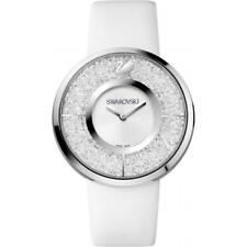 Swarovski Crystaline White Dial Calfskin Leather Strap Quartz Swiss Made