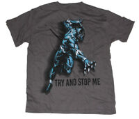 "Marvel Black Panther Boys Tee shirt size 8 ""Try & stop Me"""
