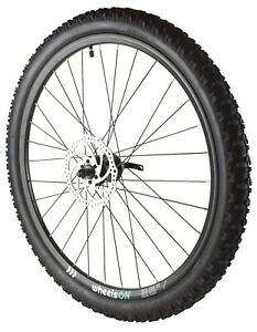 26 Inch Front Wheel wheelsON with Tyre 26x2.25 and 160 mm Disc Rotor QR Black