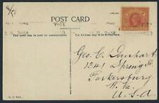 AUSTRALIA VICTORIA 1903 POST CARD OF HALF MOON BAY FRANKED 3 HALF PENNY VICTORIA