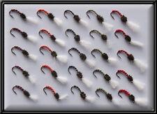 25 Buzzers Nymphs NUOVO di zecca mano legata trota pesca Mosche Fly Mulinello Canna linea x bn