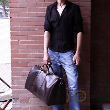 Vintage Women Men's TRAVEL Duffle Bag Tote Hand luggage package Genuine leather