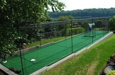 """12' x 14' x 55' #42 Knotted Baseball Batting Cage Net, Frame, Free """"BP Catcher"""""""