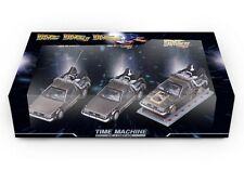 DELOREAN DMC 12 BACK TO THE FUTURE 1 2 3, 3 PACK 1/43 BY VITESSE 24016