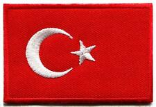 Flag of Turkey Turkish star crescent moon applique iron-on patch new S-903