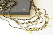 Silpada K & R Swarovski Crystal Resin Brass Neon Layers Necklace KRN0069 $149!