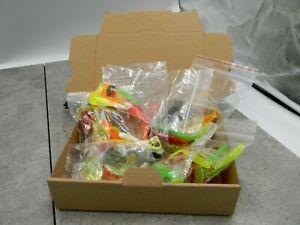 Kunstköderset - Twister & Gummifische verschiedene Größen und Farben 88 Stück