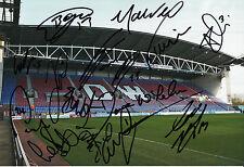 WIGAN ATHLETIC FC 2014/15 SQUAD SIGNED X 15 DW STADIUM PHOTO.