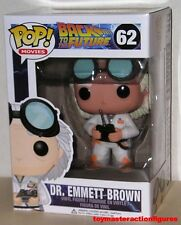 FUNKO POP 2014 MOVIES BACK TO FUTURE DR EMMET BROWN #62 RARE BOX NUMBER In Stock