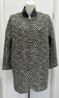 BNWOT New Zara Cotton Cocoon Quilt Lined Lightweight Coat Jacket Fits Size 12