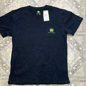 JOHN DEERE | T Shirt | Size: LARGE | Black | Pocket Logo | Mens