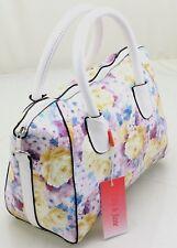 Ladies Floral Print Oilcloth Grab Bucket bag Summer Cross Body Shoulder Bag PR