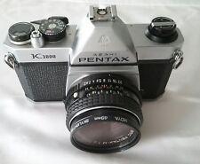 Asahi Pentax K1000 35mm SLR Film Camera w/ smc Pentax 50mm 1:2 Lens Very Good