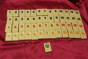 Rummikub Tiles 1980 replacement for game or crafts set #1-13 - COLOR CHOICE