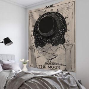 Tarot Card Moon Wall Hanging Poster Tapestry Hippie Bohemian Mandala Decor Art*
