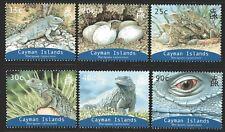 Cayman Islands 2004 Blue Iguana set of 6 Mint Unhinged