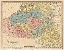 "Belgium. ""Netherlands"" by James BARLOW c1740 old antique map plan chart"