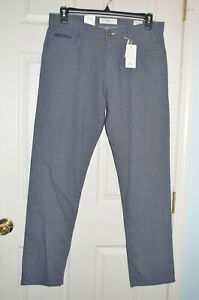 Brax blue cooper c fancy sensation 2.0 regular fit stretch pants 35 x 32 men NEW