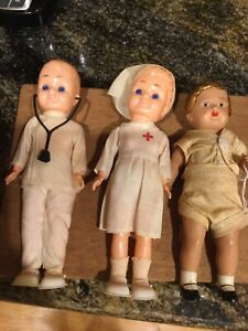 3 vintage Celluloid Dolls