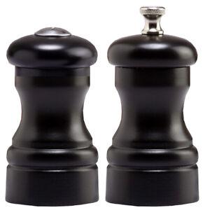 "Chef Specialties 4"" Capstan Pepper Mill & Salt Shaker Set - Ebony"