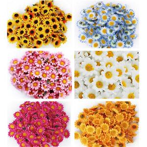 100Pcs Artificial Gerbera Daisy Silk Flowers Heads For DIY Wedding Party LJJC_cd