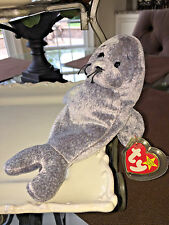 """NEW TY Beanie Babies """"Slippery"""" the Seal 1998, Rare & in Mint Condition, Plush"""