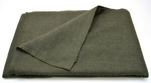 Army Surplus 75% Wool Blanket Military NEW Bedding Large Double Olive Green Warm