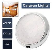 12V 46 LED Car Interior Lights Van Boat Caravan Roof Doom Ceiling Cabin Light