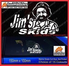 JIMS SKIDS Car Vinyl Decal Sticker Quality Funny Jim's Drift AUSSIE BURNOUT JDM