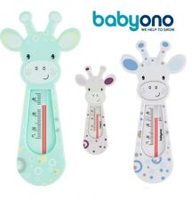 Bain Thermomètre BABYONO 774 Bébé Sécurité Flottante Girafe thermomether Bleu