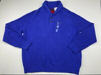 Tommy Hilfiger Men's Shawl Collar Cotton Knit Sweater Pullover Size 2XL Blue