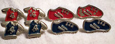 1 Set- 8 Decorative Metal Sneaker & Shirt Drawer/Door/Cabinet Pulls Sports Room