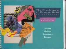 Development of Western Music: Anthology 1: A History : K.Marie Stolba