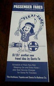 Passenger Fares: Atchison, Topeka & Santa Fe, Brochure, September 1, 1970