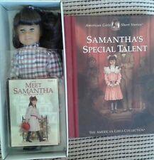 American Girl Doll Retired Samantha Mini Doll in Box w/ Mini Book + Bonus Book