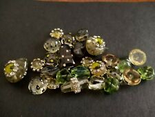 Clear green beads