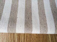 Stripes Natural LINEN - Cotton Fabric. Price per 1/2 meter