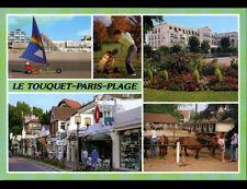 TOUQUET-PARIS-PLAGE (62) CHAR à VOILE , GOLF , EQUITATION & COMMERCES animés