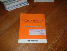 GENUINE KIA A5SR1/2 AUTOMATIC TRANSAXLE WORKSHOP MANUAL.2007.