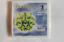 Faltblätter Florentine Flower Power 03; 65 Blatt 10 * 10  cm 80 g/qm
