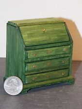 Dollhouse Miniature Desk Slant Top Green D 1:12  inch scale K39 Dollys Gallery