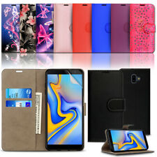 For Samsung Galaxy J6 Phone Case Luxury Premium Leather Flip Wallet Card Cover