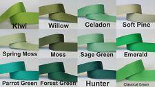 5yds~~22mm Green/Forest Green/Moss/Kiwi Grosgrain Ribbon 11  COLOURS U PICK