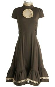 Spin Doctor Brown Vena Cava Steampunk Victorian Dress Medium NWT
