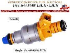 1 Fuel Injector OEM BOSCH for 1986-1994 BMW 1.8L I4 / 3.5L I6 #0280150714