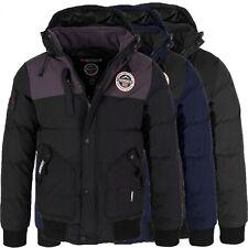 Geographical Norway Herren Stepp Winter Jacke mit Kapuze Outdoor Jacken H-225